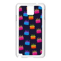A Tilable Birthday Cake Party Background Samsung Galaxy Note 3 N9005 Case (white)