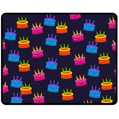 A Tilable Birthday Cake Party Background Double Sided Fleece Blanket (Medium)