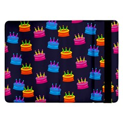 A Tilable Birthday Cake Party Background Samsung Galaxy Tab Pro 12.2  Flip Case