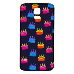 A Tilable Birthday Cake Party Background Samsung Galaxy S5 Back Case (white)