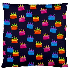 A Tilable Birthday Cake Party Background Large Flano Cushion Case (two Sides)