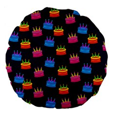 A Tilable Birthday Cake Party Background Large 18  Premium Flano Round Cushions