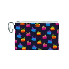 A Tilable Birthday Cake Party Background Canvas Cosmetic Bag (S)
