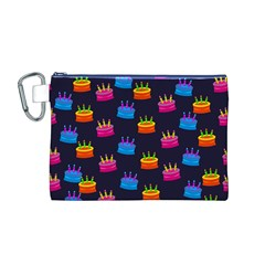 A Tilable Birthday Cake Party Background Canvas Cosmetic Bag (M)
