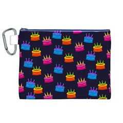 A Tilable Birthday Cake Party Background Canvas Cosmetic Bag (XL)