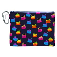 A Tilable Birthday Cake Party Background Canvas Cosmetic Bag (XXL)