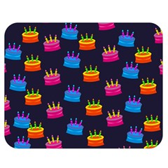 A Tilable Birthday Cake Party Background Double Sided Flano Blanket (medium)
