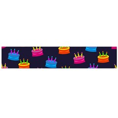 A Tilable Birthday Cake Party Background Flano Scarf (Large)