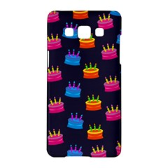 A Tilable Birthday Cake Party Background Samsung Galaxy A5 Hardshell Case