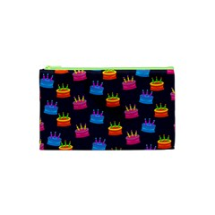 A Tilable Birthday Cake Party Background Cosmetic Bag (xs)