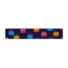 A Tilable Birthday Cake Party Background Flano Scarf (mini)