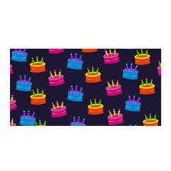 A Tilable Birthday Cake Party Background Satin Wrap