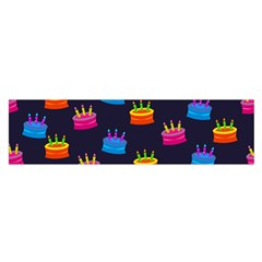 A Tilable Birthday Cake Party Background Satin Scarf (Oblong)