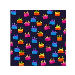 A Tilable Birthday Cake Party Background Small Satin Scarf (Square)