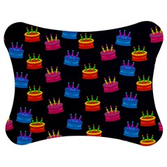 A Tilable Birthday Cake Party Background Jigsaw Puzzle Photo Stand (Bow)