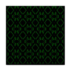 Green Black Pattern Abstract Tile Coasters