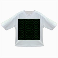 Green Black Pattern Abstract Infant/toddler T Shirts