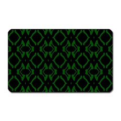 Green Black Pattern Abstract Magnet (rectangular)