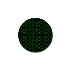 Green Black Pattern Abstract Golf Ball Marker (4 Pack)