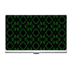 Green Black Pattern Abstract Business Card Holders