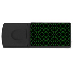 Green Black Pattern Abstract USB Flash Drive Rectangular (1 GB)