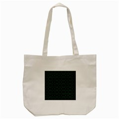 Green Black Pattern Abstract Tote Bag (cream)