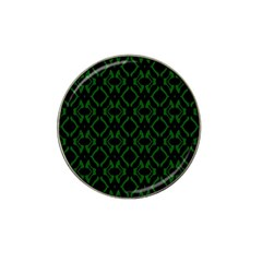 Green Black Pattern Abstract Hat Clip Ball Marker (4 Pack)