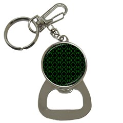 Green Black Pattern Abstract Button Necklaces