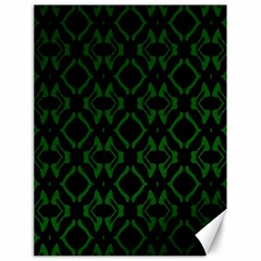 Green Black Pattern Abstract Canvas 18  x 24