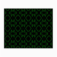 Green Black Pattern Abstract Small Glasses Cloth (2 Side)
