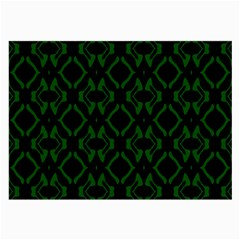 Green Black Pattern Abstract Large Glasses Cloth
