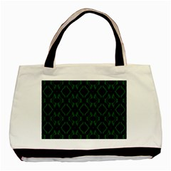 Green Black Pattern Abstract Basic Tote Bag (two Sides)