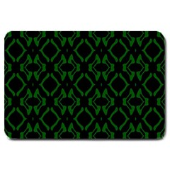 Green Black Pattern Abstract Large Doormat