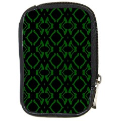 Green Black Pattern Abstract Compact Camera Cases