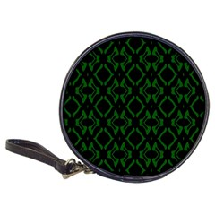Green Black Pattern Abstract Classic 20 Cd Wallets