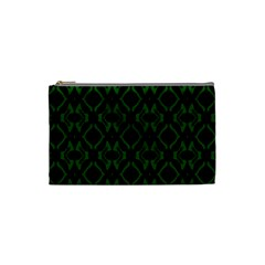 Green Black Pattern Abstract Cosmetic Bag (Small)