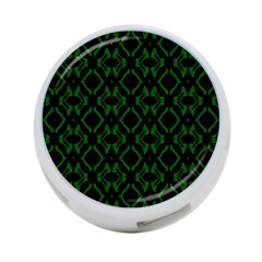 Green Black Pattern Abstract 4-Port USB Hub (Two Sides)