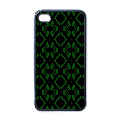 Green Black Pattern Abstract Apple iPhone 4 Case (Black)