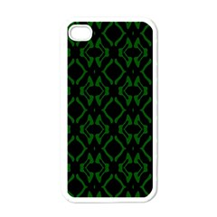 Green Black Pattern Abstract Apple Iphone 4 Case (white)