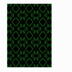 Green Black Pattern Abstract Large Garden Flag (two Sides)