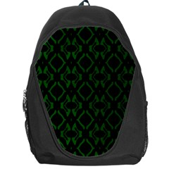 Green Black Pattern Abstract Backpack Bag