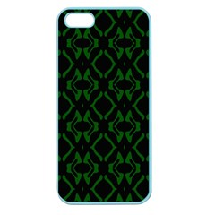 Green Black Pattern Abstract Apple Seamless iPhone 5 Case (Color)