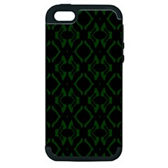 Green Black Pattern Abstract Apple iPhone 5 Hardshell Case (PC+Silicone)