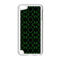 Green Black Pattern Abstract Apple Ipod Touch 5 Case (white)
