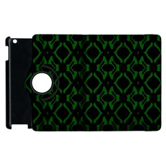 Green Black Pattern Abstract Apple Ipad 3/4 Flip 360 Case