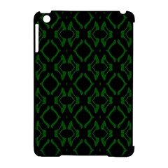 Green Black Pattern Abstract Apple iPad Mini Hardshell Case (Compatible with Smart Cover)