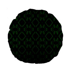 Green Black Pattern Abstract Standard 15  Premium Round Cushions
