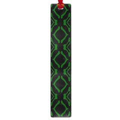 Green Black Pattern Abstract Large Book Marks