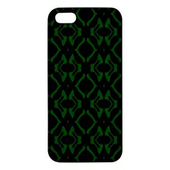 Green Black Pattern Abstract Apple iPhone 5 Premium Hardshell Case