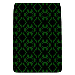 Green Black Pattern Abstract Flap Covers (L)